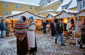 The historic Christmas Market in Odense.